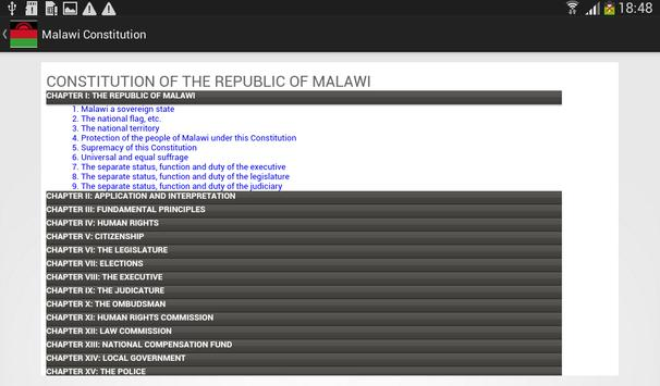 Malawi Constitution apk screenshot