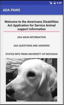 ADA PAWS poster