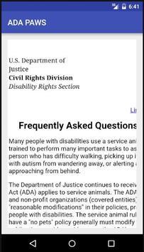 ADA PAWS apk screenshot