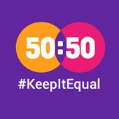 50:50 - #KeepItEqual icon