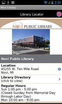 Novi Public Library apk screenshot