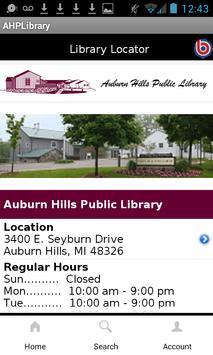 Auburn Hills Public Library apk screenshot