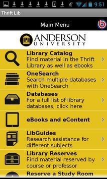 Anderson Univ - Thrift Library poster