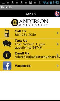 Anderson Univ - Thrift Library apk screenshot