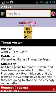Baldwinsville Public Library apk screenshot