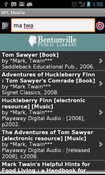 Bentonville Library Mobile apk screenshot