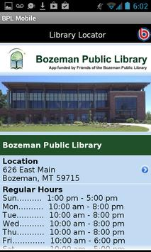 Bozeman Public Library apk screenshot