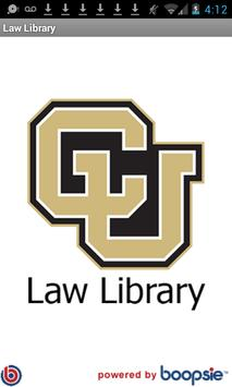 CU Boulder Wise Law Library poster