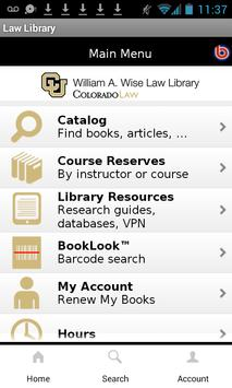 CU Boulder Wise Law Library apk screenshot