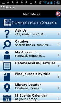 Connecticut College Libraries poster