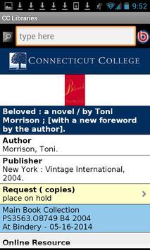 Connecticut College Libraries apk screenshot