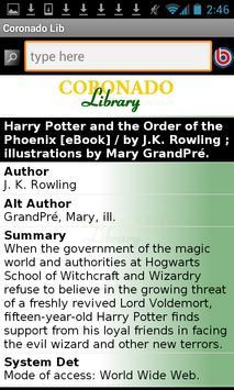 Coronado Public Library apk screenshot