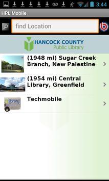 Hancock County Public Library apk screenshot