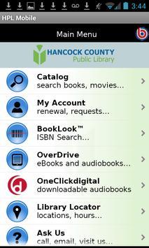 Hancock County Public Library poster