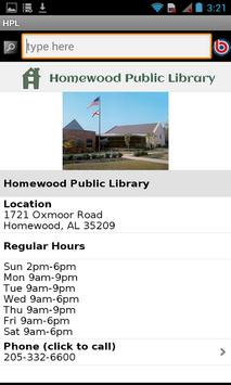 Homewood Public Library, AL apk screenshot