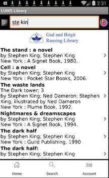 LUMS Library apk screenshot