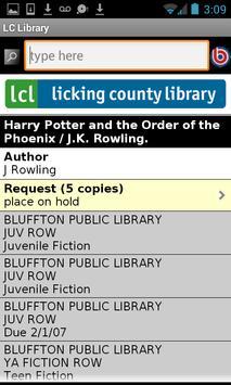 Licking County Library apk screenshot