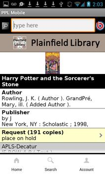 Plainfield Public Library apk screenshot