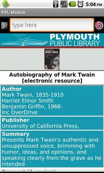 Plymouth Public Library, MA apk screenshot