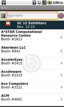 Supercomputing 2012 apk screenshot