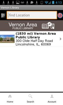 Vernon Area Public Library apk screenshot