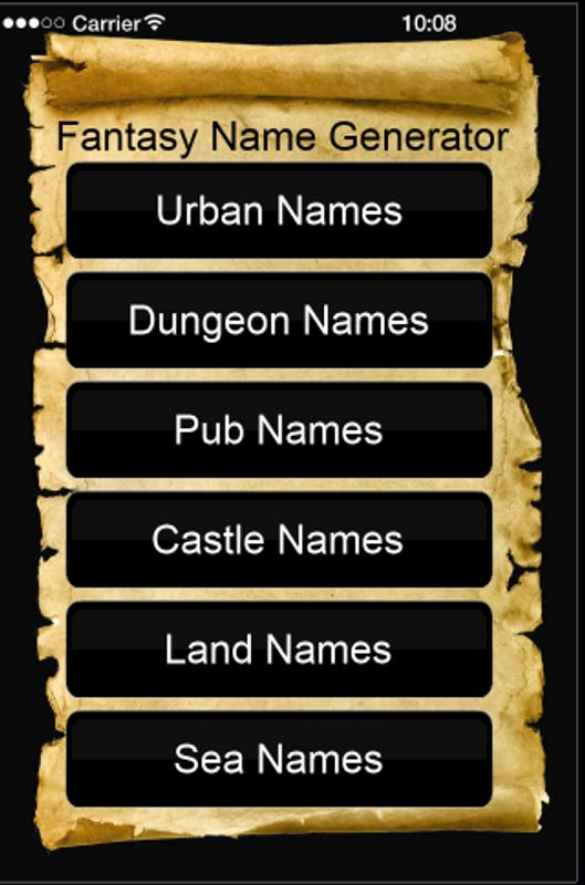 Fantasy Name Generator APK Download - Free Entertainment ...