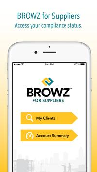 BROWZ for Suppliers poster