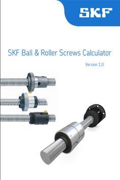 SKF Ball & Roller Screws Calc poster