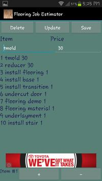 Flooring Job Estimator apk screenshot
