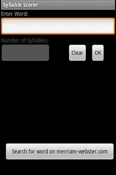 Syllable Scorer apk screenshot