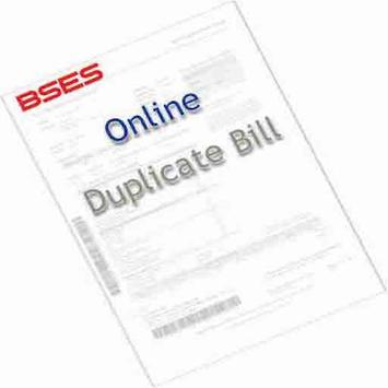 BSES Duplicate Bill Print poster