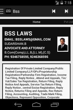 BSS Company Registration apk screenshot