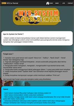 WSCar Rental poster