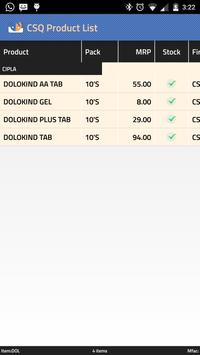 CSQ Product List apk screenshot