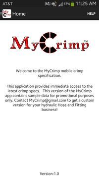 MyCrimp – Crimp Specifications poster