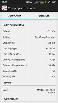 MyCrimp – Crimp Specifications apk screenshot