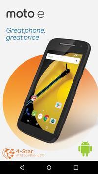 devicealive Motorola moto e poster