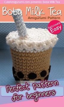 Boba Milk Tea Crochet Pattern poster