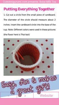 Boba Milk Tea Crochet Pattern apk screenshot