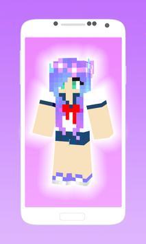 Cute girl anime skins poster