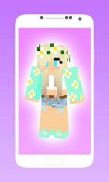 Cute minecraft skins for girls poster
