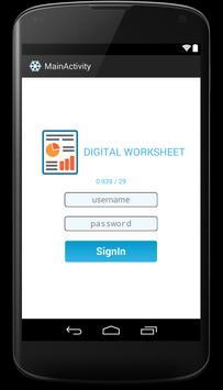 Mobile Worksheet poster