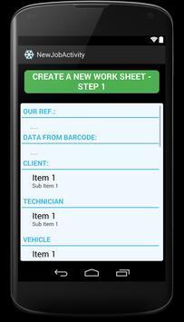 Mobile Worksheet apk screenshot