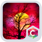 Red Full Moon Theme C Launcher icon