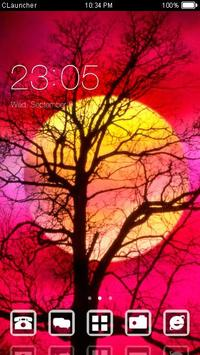 Red Full Moon Theme C Launcher poster