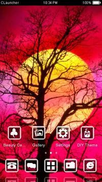 Red Full Moon Theme C Launcher apk screenshot