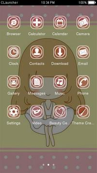 Sweet Girl Theme C Launcher apk screenshot