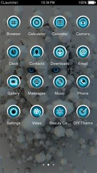 White Robot HD Theme CLauncher apk screenshot