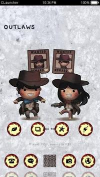 Cowboy Couple Theme C Launcher apk screenshot