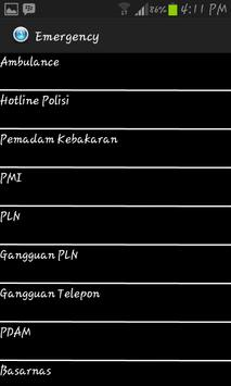 Call Center Bandar Lampung apk screenshot